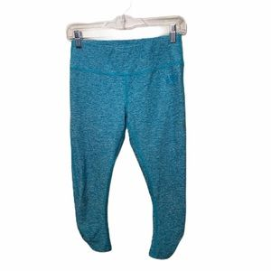 The North Face Heathered Teal/Blue Cropped Legging